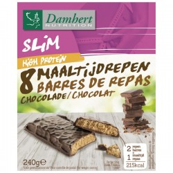 DAMHERT NUTRITION SLIM BARRES DE REPAS CHOCOLAT HIGH PROTEIN 240G B8