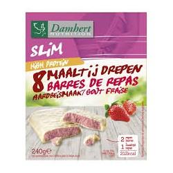DAMHERT NUTRITION SLIM BARRES DE REPAS FRAISE HIGH PROTEIN 240G B8