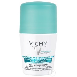 VICHY DEODORANT ANTI TRANSPIRANT 48H ANTI TRACES BLANCHES ET JAUNES ROLL-ON 50ML