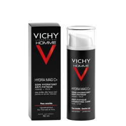 VICHY HOMME HYDRA MAG C + - Soin hydratant anti-fatigue Visage + Yeux 50ml