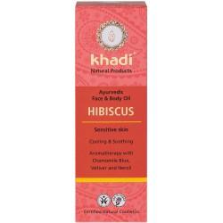 KHADI HUILE AYURVÉDIQUE  A L'HIBISCUS- 100 ml