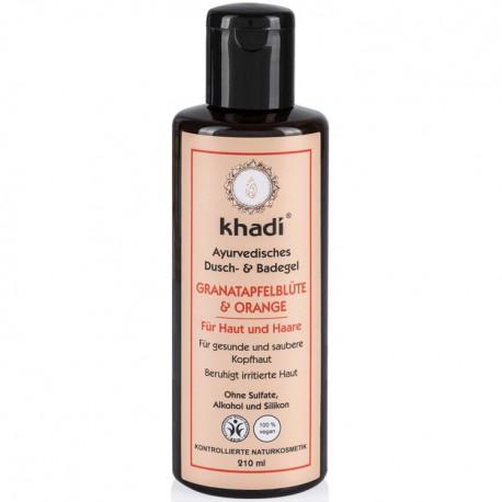 KHADI GEL DOUCHE & BAIN GRENADE & ORANGE BIO