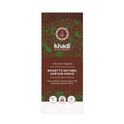 KHADI COLORATION VEGETALE NOISETTE NATURAL CHATAIN FONCE 100G